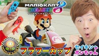 【マリオカート8 デラックス】フラワーカップで優勝を目指す!【SeikinGames / セイキン&ポンちゃん】