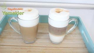 Kahve Makinesi Olmadan 3 KATI BELLİ OLAN BOL SÜT KÖPÜKLÜ LATTE Macchiato KAHVE