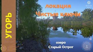 Русская рыбалка 4 озеро Старый Острог Угорь на Первомай