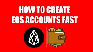 how to create eos accounts fast