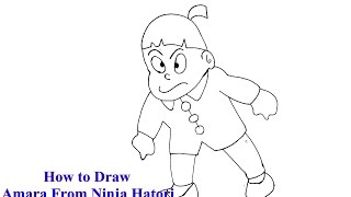 How to Draw Amara from Ninja Hatori