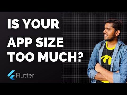 Is your flutter app size too large?   APK Size Tool   Flutter 2.0