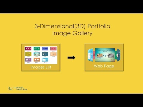 3-Dimensional(3D) Portfolio Image Gallery Using HTML & CSS - Learn Infinity
