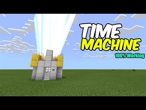 How To Make A Working TIME MACHINE In Minecraft ( Bedrock , Java , MCPE , Xbox , Ps4 )