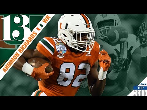 Ahmmon Richards - Miami WR | ACC Top 30