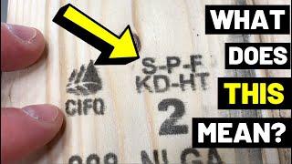 What Is S-P-F LUMBER? (S-P-F Vs. SYP...What's The Difference?? Lumber Markings/Softwood Varieties)