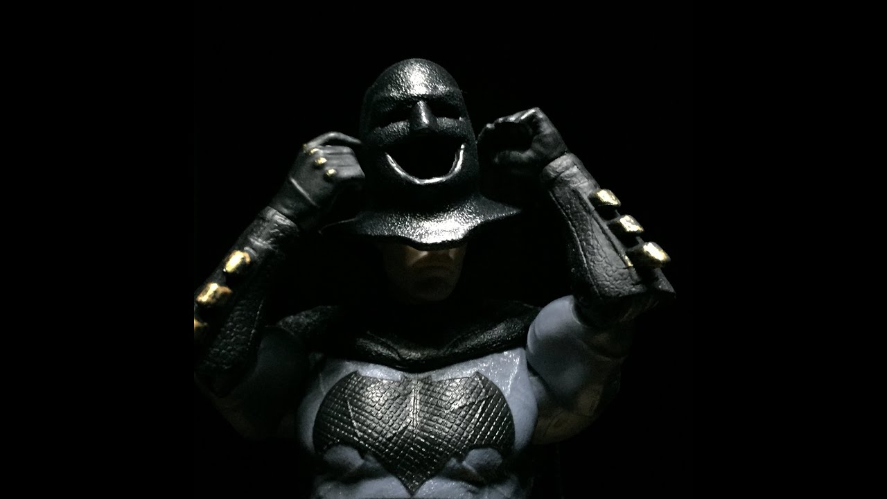 Unmasked Batman V Superman Batfleck Figure Review Mattel