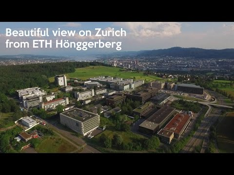 Beautiful ETH Hönggerberg aerial view by Drone Zurich