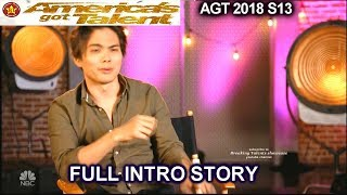 Shin Lim Tells Us His Hand Accident FULL INTRO STORY America's Got Talent 2018 Semifinals 1 AGT