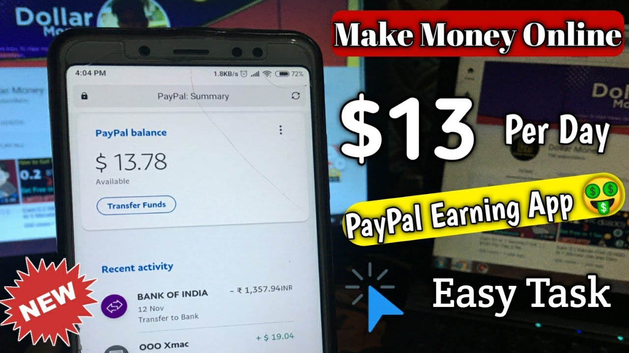 Earn $13 Dollar PayPal Money - EVERY Day 🔥- HOW TO EARN MONEY ONLINE ( Easy Task Complete )