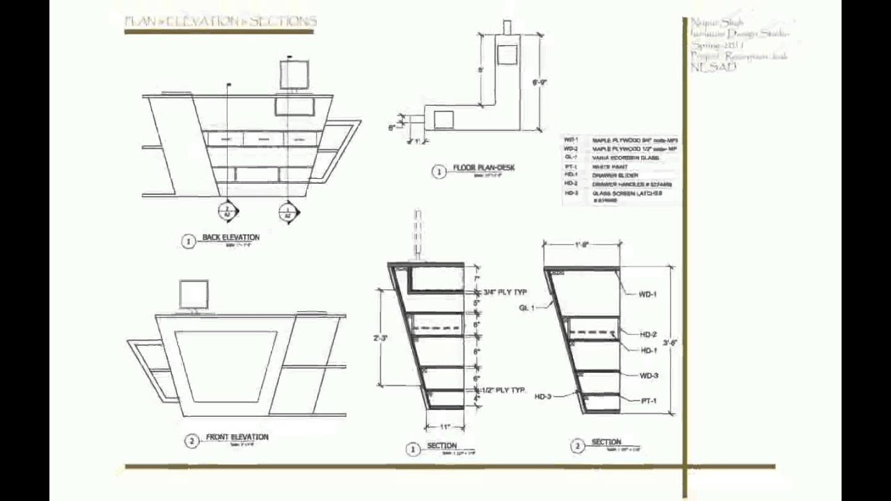 How To Draw Furniture Interior Design ~ Furniture designin autocad youtube