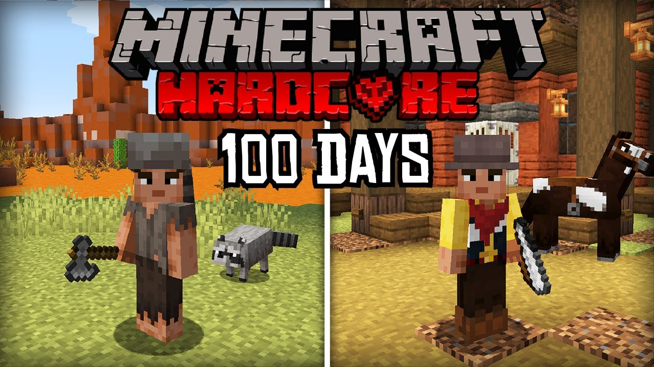 I tried to Survive 100 Days in the Wild West in Hardcore Minecraft... Here's What Happened
