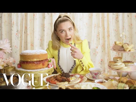 Florence Pugh Eats 11 English Dishes - Mukbang | Vogue
