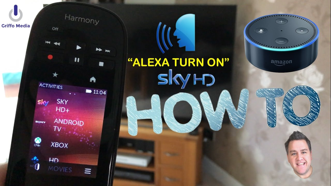 4f12cb86620 How To Control - Sky HD Sky Q & More With Alexa - Logitech Harmony Hub & Amazon  Echo Dot