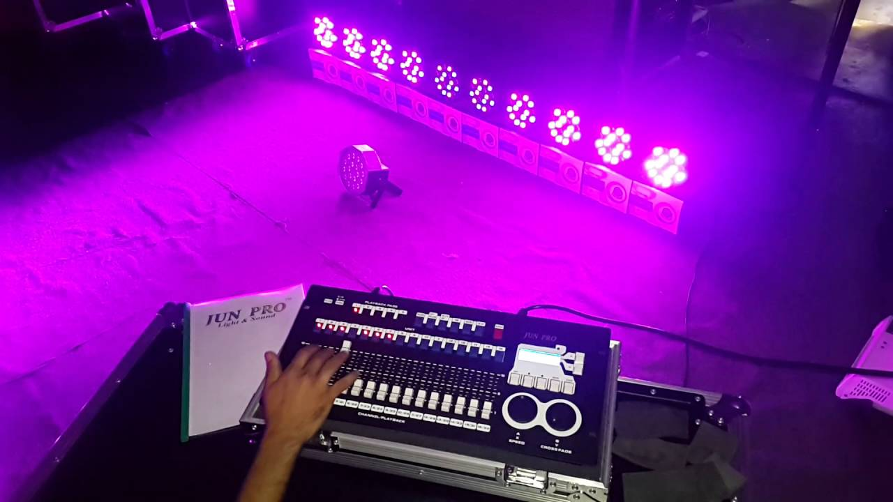 Jun Pro Dmx 256 With Led Parcan Controller Rainbow