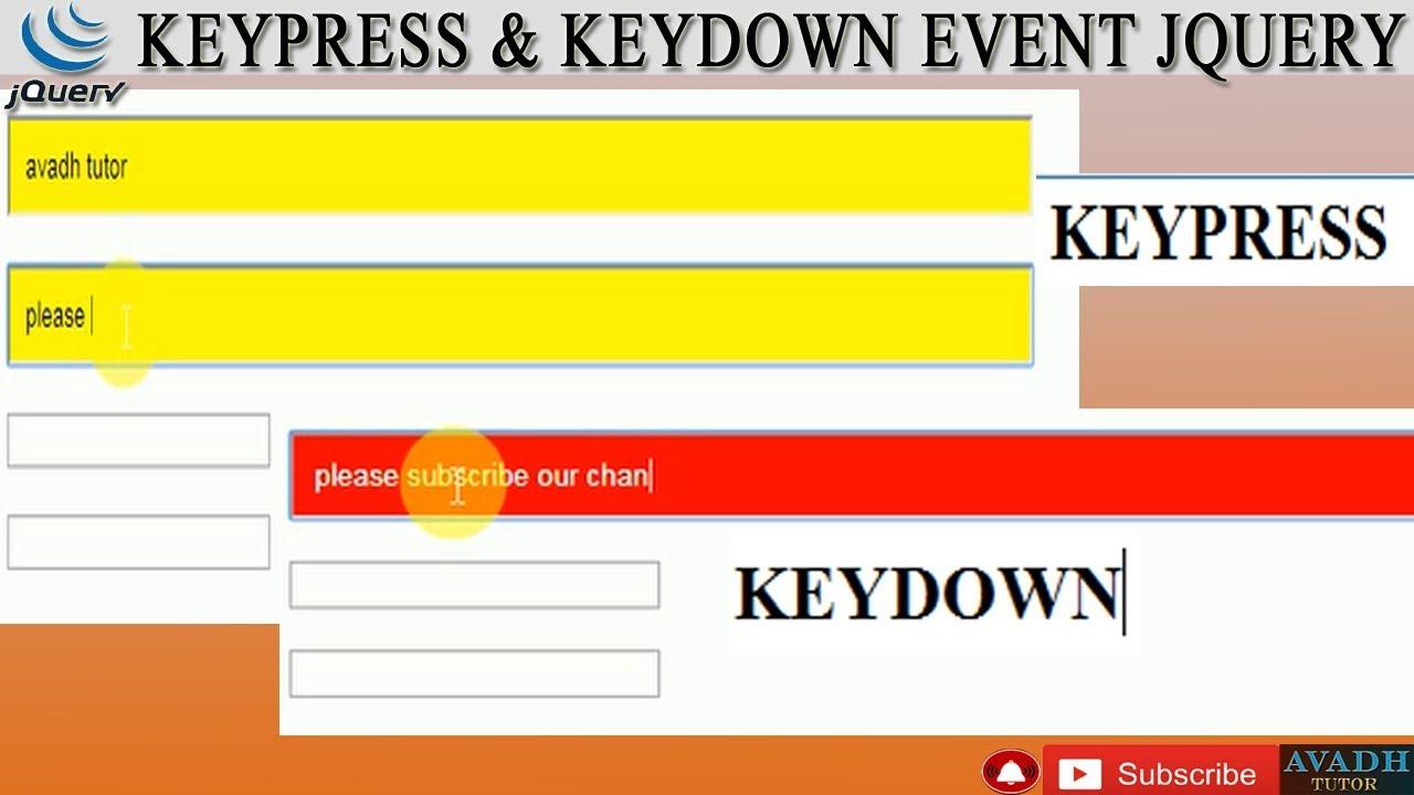 keypress event jquery || keydown event jquery || keypress keydown event  input style change jquery