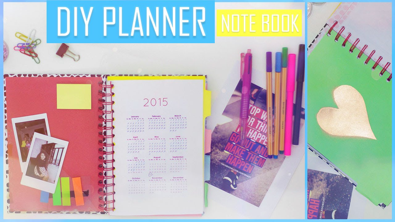 Diy how to make your own planner organizer book for Design my own planner