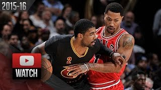 Kyrie Irving vs Derrick Rose PG DUEL Highlights (2016.02.18) Cavaliers vs Bulls - SICK!