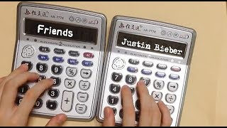 ☆Justin Bieber - Friends☆ but it's played on two calculators
