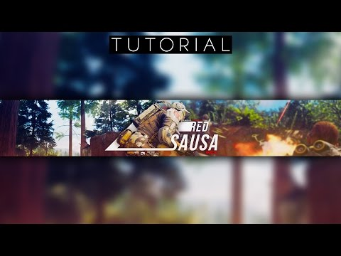 SPICY Call of Duty Character Youtube Banner Tutorial Photoshop CC
