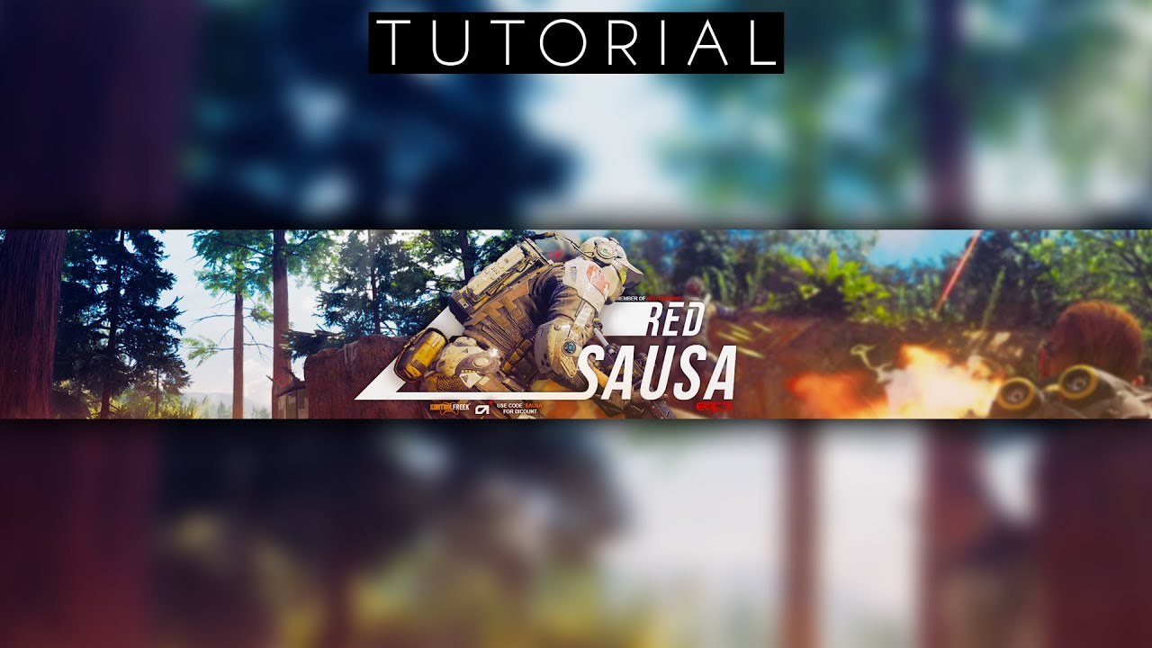 SPICY Call of Duty Character Youtube Banner Tutorial