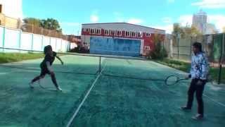 Теннис. Для начинающих - первая тренировка.