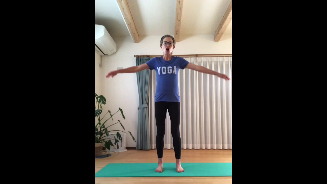 English yoga lesson: Neck and Head in Sun Salutation