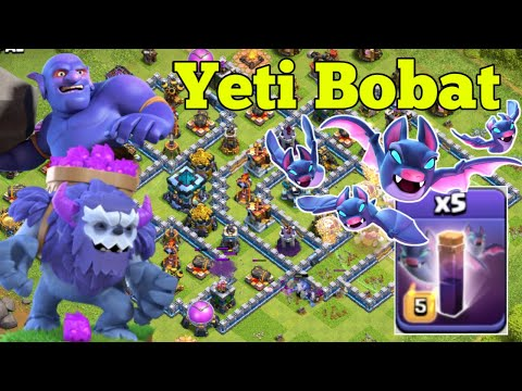 'Yeti Bobat' Th13 Yeti Bowler With Bat's Spells Legend League Attacks 2020 June Clash Of Clans.