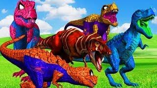 Spiderman Dinosaurs Cartoons Singing Finger Family Funny Animals Cartoons Videos For Child