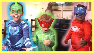 PJ Masks in Real Life: Fixing The Boo Boo with Catboy | Halloween PJ Masks