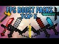 ★ Top 5 FPS Boost Texture Packs 2018 (Increase Frames by 100%)