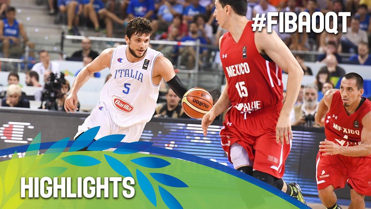 Italy v Mexico - Highlights - FIBA Olympic Qualifying Tournament