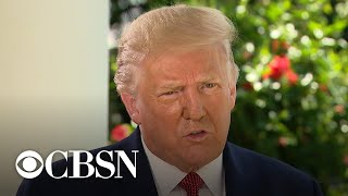 Trump talks pandemic, Biden and more in exclusive CBS News interview