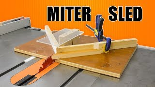 Make a Miter Sled Jig for the Table Saw - Perfect Miter Cuts Every Time!