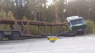 Новосибирск. ДТП на Северном объезде.