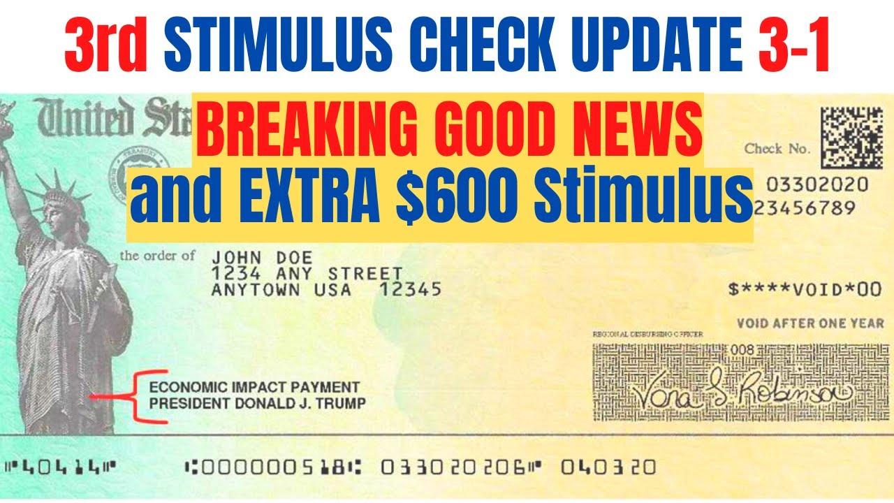 Download BIG NEWS! Third Stimulus Check Update *SENATE Makes Good Decision*