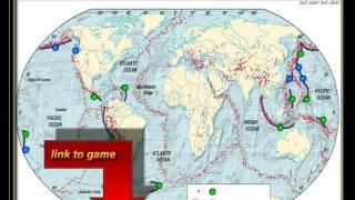 Weltkarte der ozeanischen Gräben