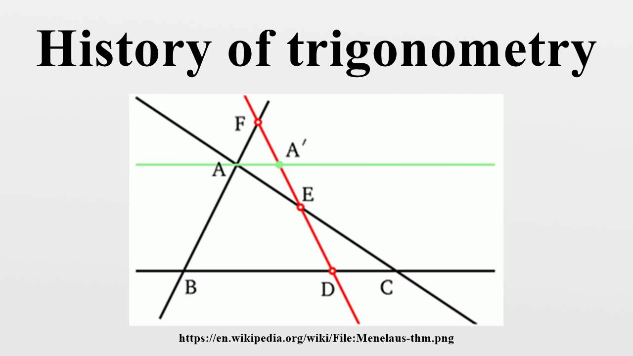 The History of Trigonometry- Part 1