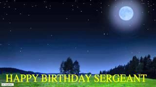 Sergeant  Moon La Luna - Happy Birthday