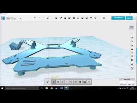 Drone frame |speed build| Using Autodesk 123D design