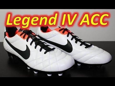 Nike Tiempo Legend IV ACC White/Black/Total Crimson - Unboxing + On Feet
