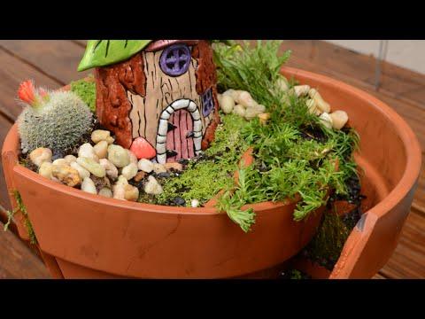 Fairy Garden In A Pot Broken pot fairy garden youtube broken pot fairy garden workwithnaturefo