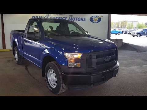 Blue 2017 Ford F-150 4WD REG CAB Review Prince George BC - Prince George Motors