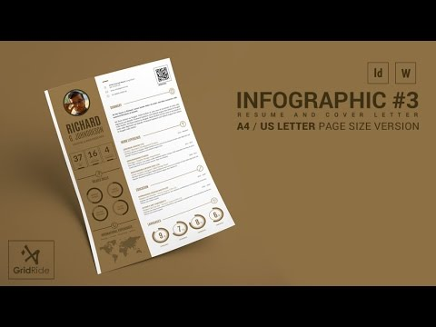 How to Customize CV Resume Template in Indesign @ Infographic#3 - indesign resume templates
