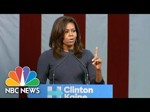 Michelle Obama On Donald Trump\'s Comments: \'Enough Is Enough\' (Full Speech) | NBC News