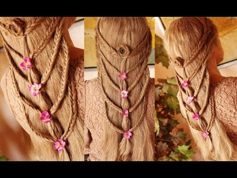 Cascading Fishtail Braid Hairstyle for Summer/Spring ...