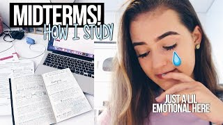 Midterm week: how i'm studying for them (+ getting a lil emotional) | part 1