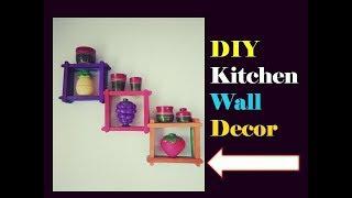 DIY kitchen wall decor/hanging | easy popstick craft | home decor