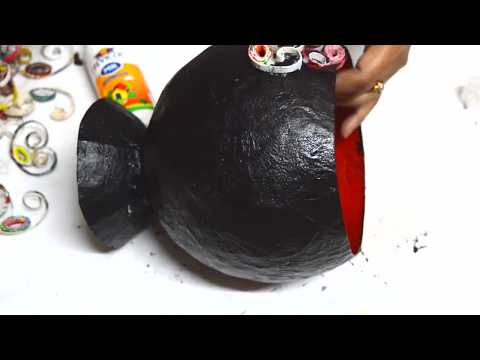 Newspapers Craft | How To Make Pot From Newspaper | Newspaper Vase