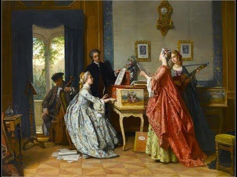 Jean Carolus (1814 -1897) Belgian painter ✽  Mozart music